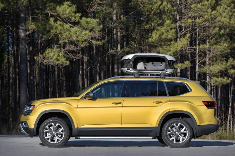 All new volkswagen Atlas side view . http//www.suvdrive