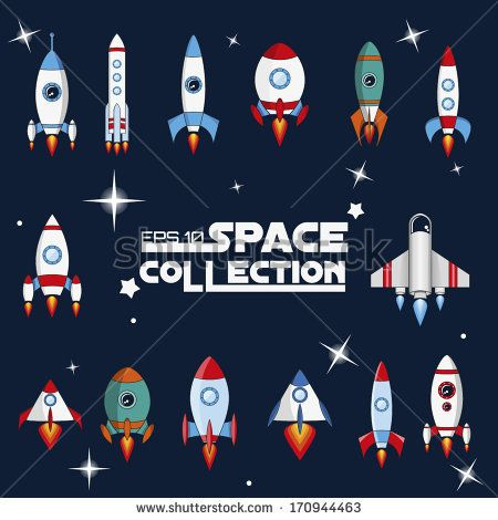 spaceship vector. - stock vector | source for drawing | pinterest