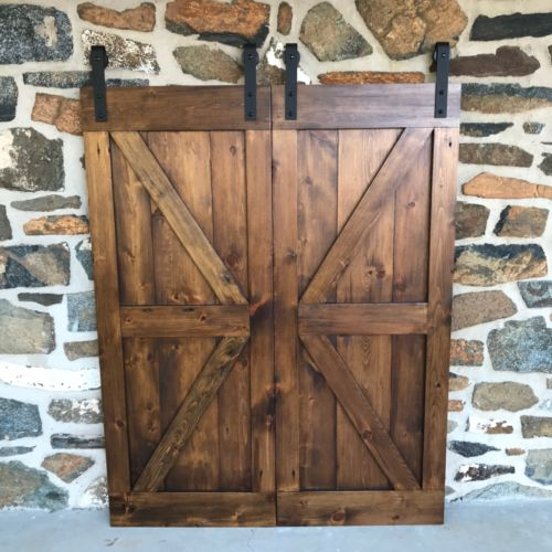 Bi Parting Barn Doors Mini Door Hardware Rustic