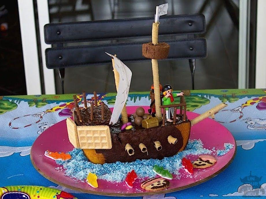 gâteau d'anniversaire bateau pirate | gâteaux et dessert fantaisie
