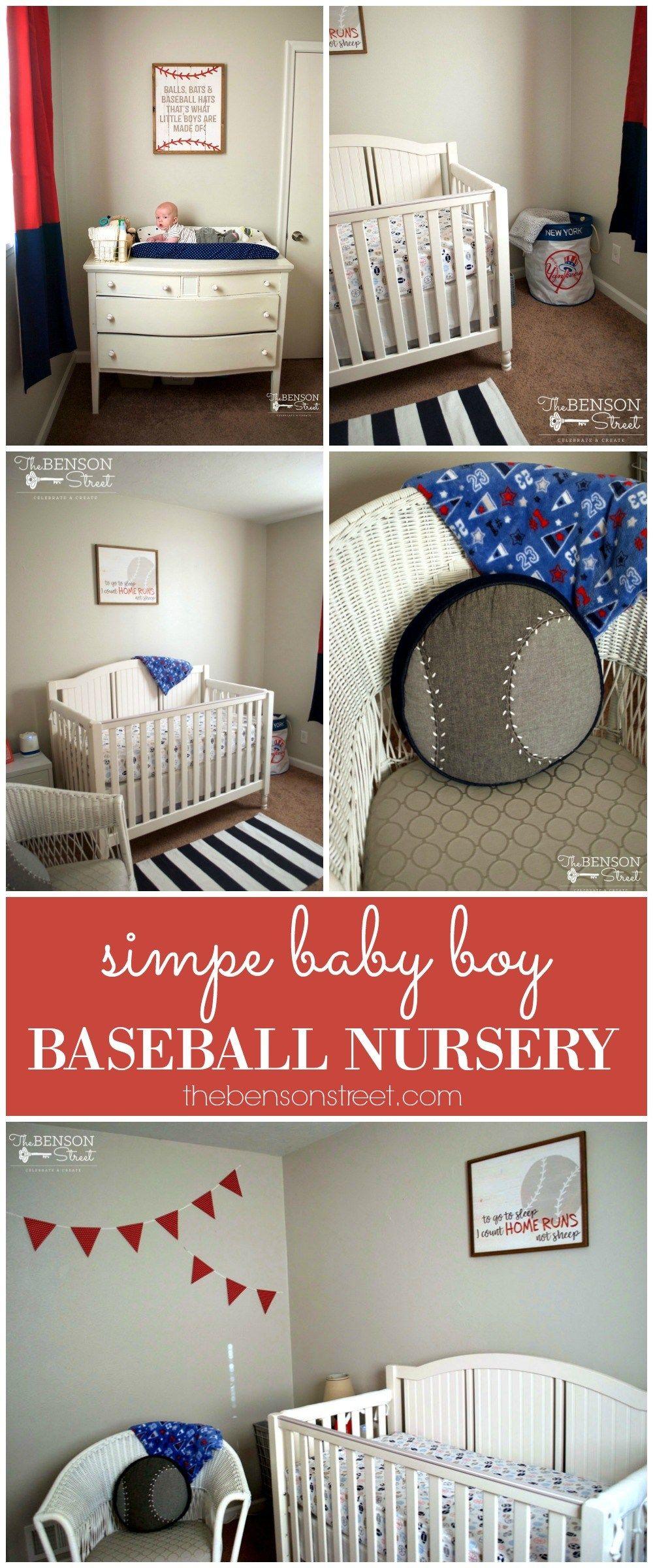 Baby Boy Baseball Nursery Baby Boy Room Decor Baby Boy Nursery