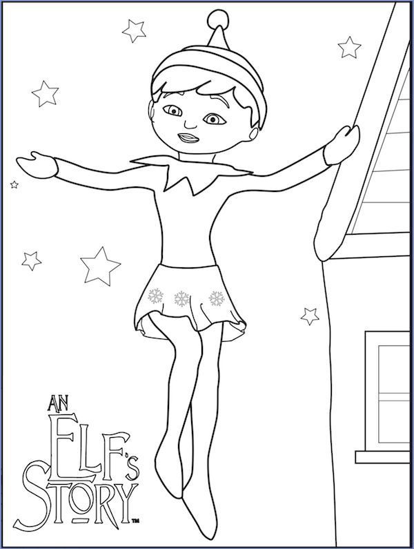 Little Lids Siobhan Elf On The Shelf Colouring Pages Christmas