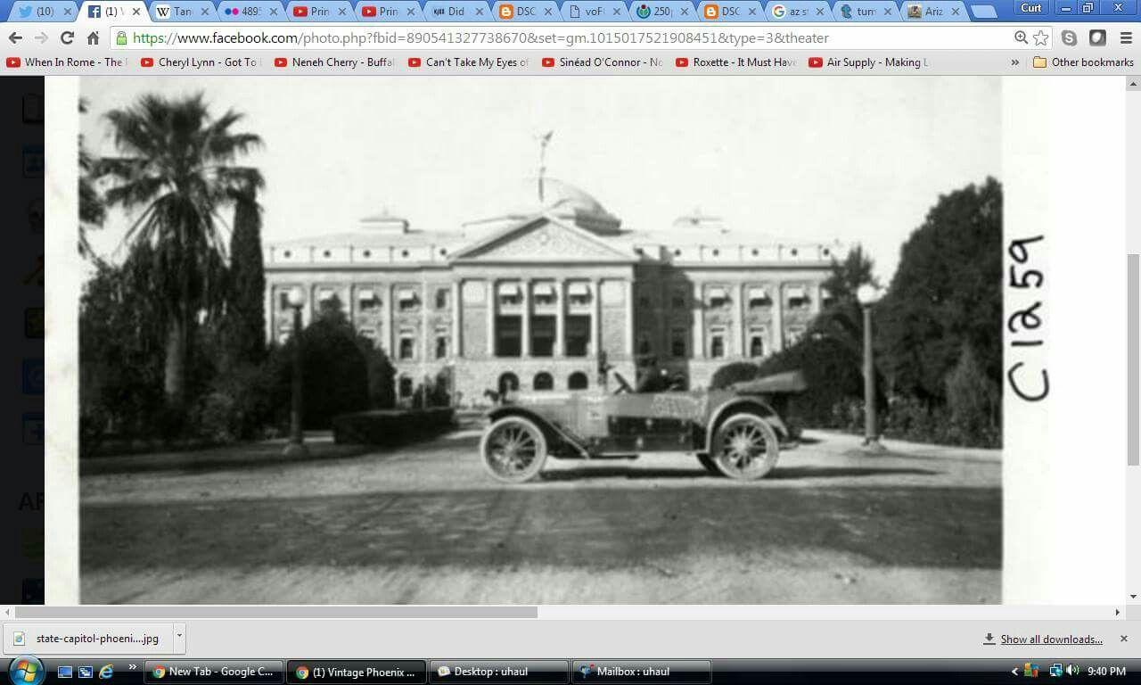 Arizona state capital circa 1901