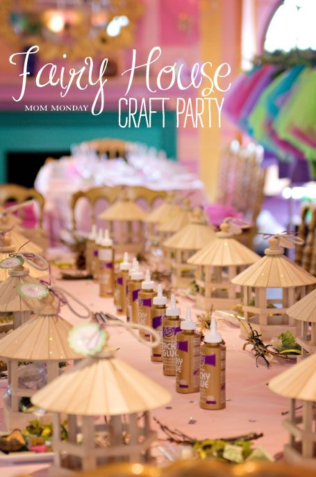 Kids Craft Party Ideas Part - 43: Fairy House Decorating Craft Party