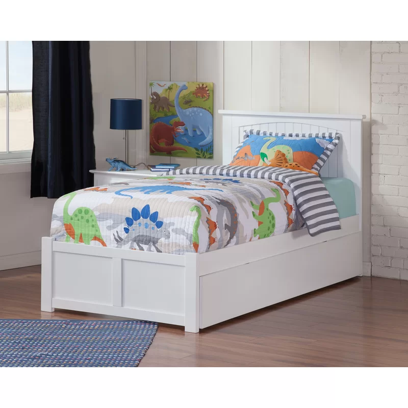 Graham Platform Bed With Trundle In 2020 Bed With Drawers Platform Bed With Drawers Twin Platform Bed
