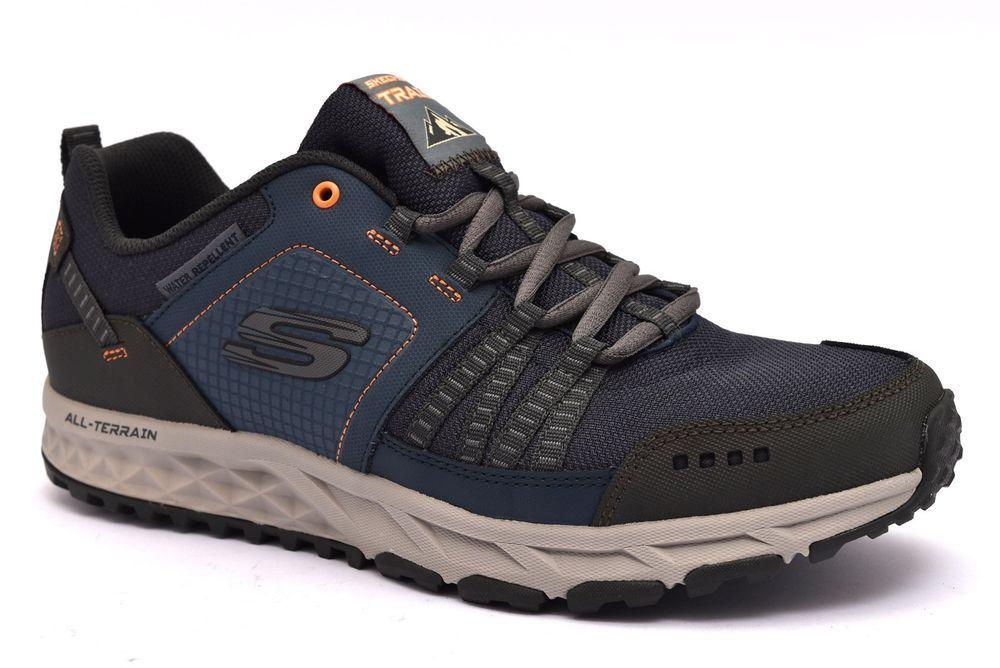 SKECHERS 51591 NVOR BLU Memory Foam Uomo Sneakers Scarpa ...