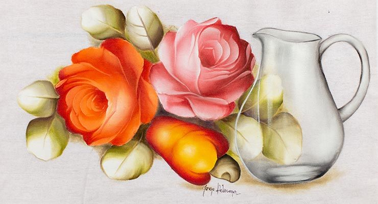 Curso Online De Pintura Em Tecido Escola De Pintura Pintura Em