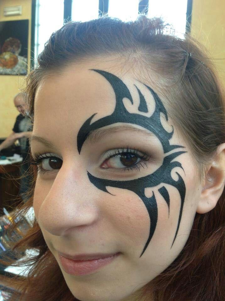 Tribal Eye Design Great For Guys Eye Face Painting Face