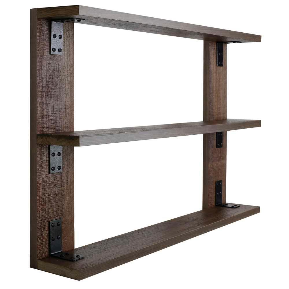 Hobbitholeco 36 In X 24 In 3 Shelf Wood And Metal Tri Shelf