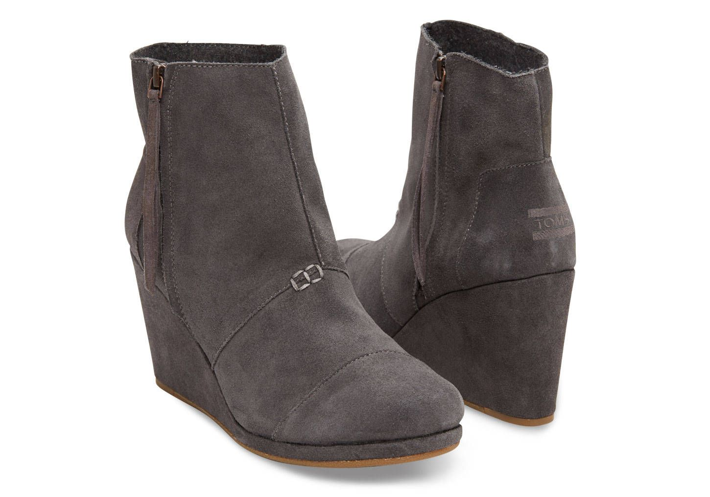 d8bc9b45156 TOMS DARK GREY SUEDE WOMEN S DESERT WEDGE  98 To order fill out the Shop  Now tab on our Facebook Page or call 218.722.3200. We ship for  7.95 or  will hold ...