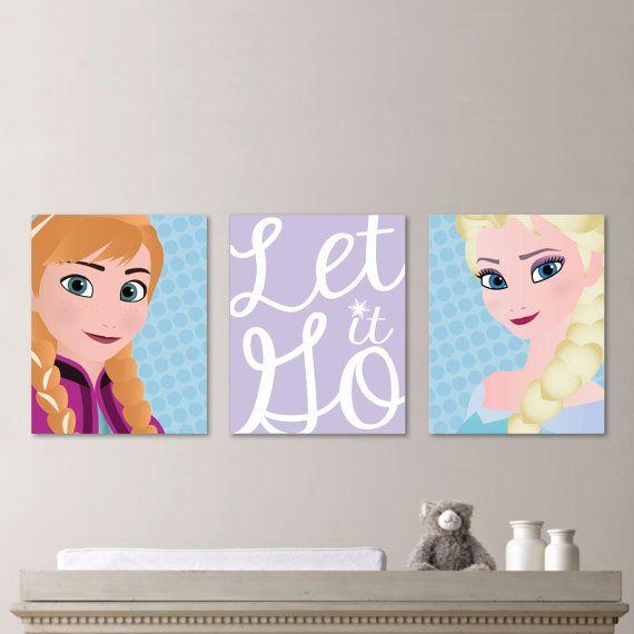 Frozen Wall Art etsy frozen merchandise - momtastic | frozen art, girl nursery