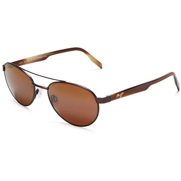 Maui Jim Upcountry Aviator Sunglasses, 53mm ($320) ❤ liked on Polyvore featuring accessories, eyewear, sunglasses, maui jim sunglasses, maui jim glasses, aviator sunglasses, aviator style sunglasses and maui jim eyewear