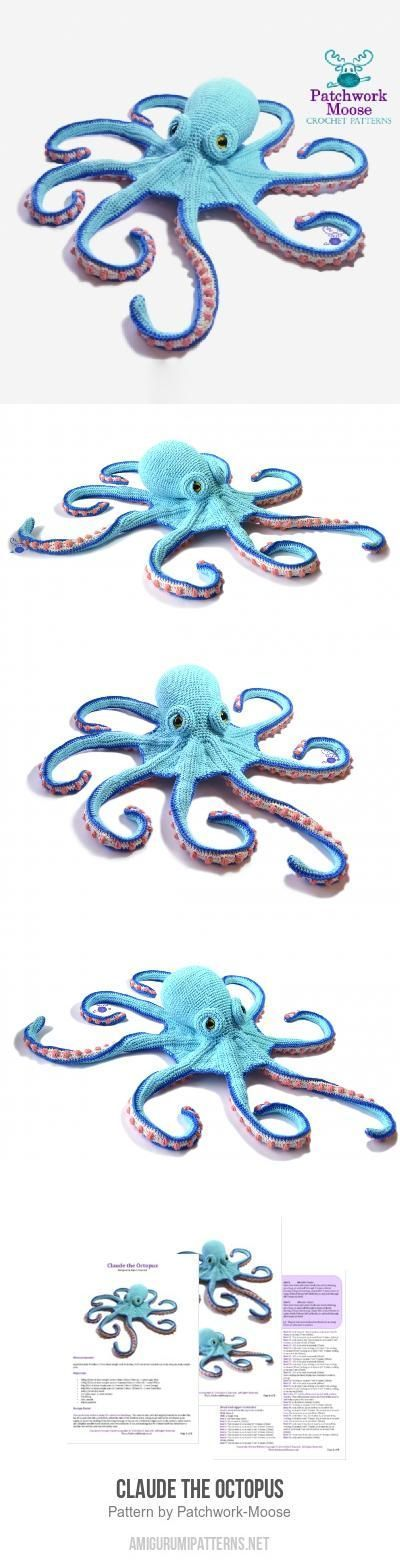 Claude the Octopus amigurumi pattern by Patchwork Moose (Kate E ...