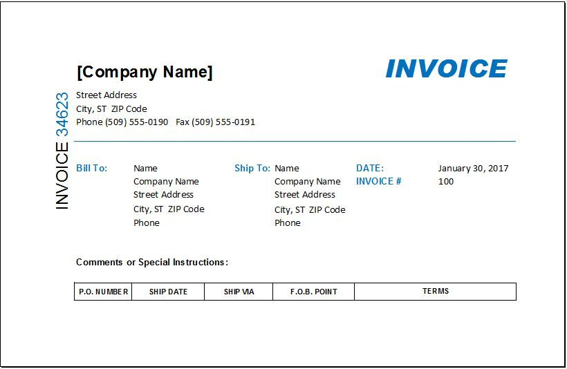Interior Design Invoice Template Invoice Template Invoice