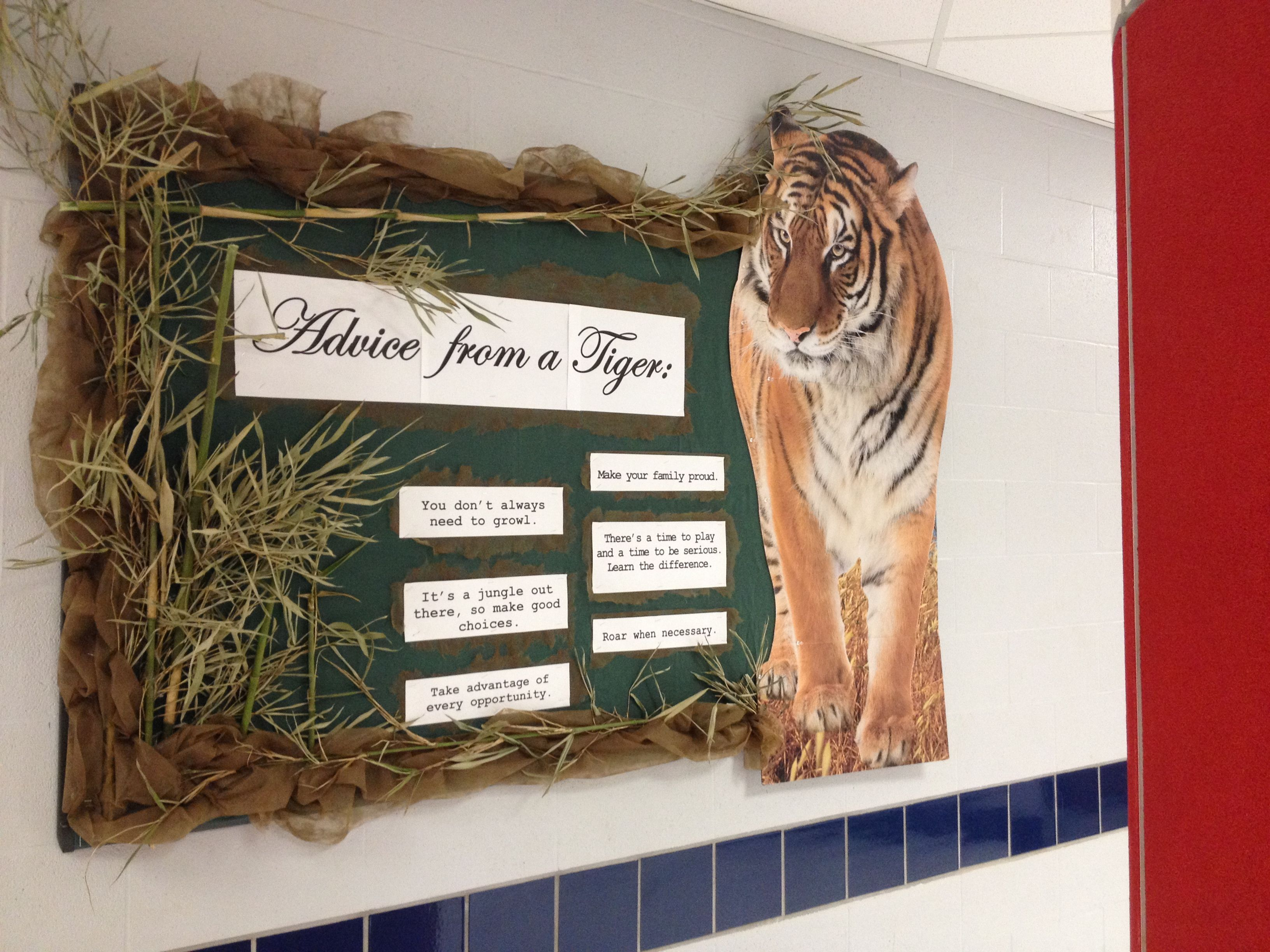 Advice from a Tiger bulletin board for high school. Used a ...