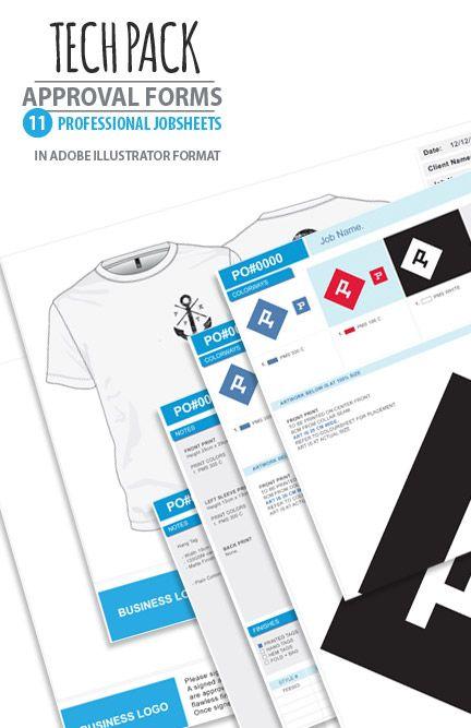Apparel design Studio tech-pack job sheets artwork approvals - job sheet templates