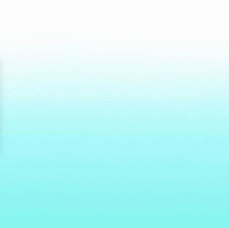 Aurora Tulum Wallpaper In Turquoise To White Gradient In