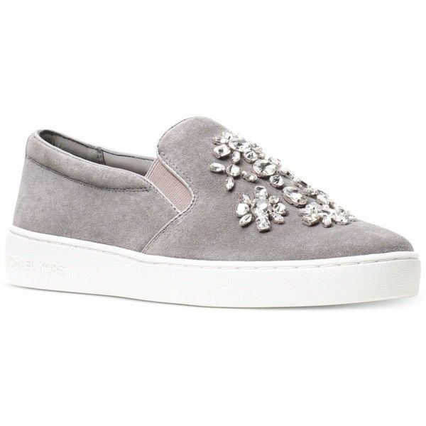 c37155226d47 Michael Michael Kors Keaton Embellished Slip-On Sneakers ( 113) ❤ liked on Polyvore  featuring shoes