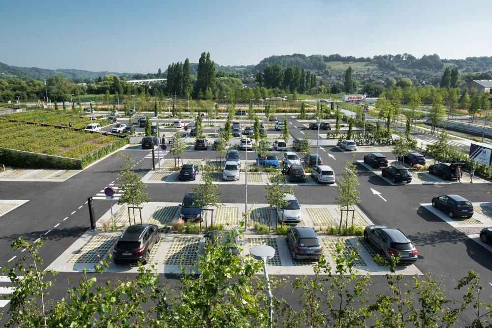 Calvados Honfleur Business Park By La Compagnie Du Paysage Landscape Architecture Platform Landezine Landshaftnaya Arhitektura Landshaft Arhitektura
