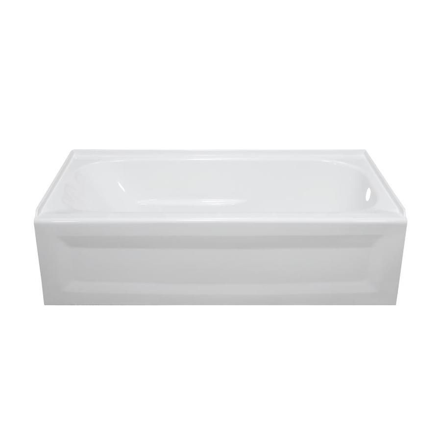 Style Selections White Acrylic Oval In Rectangle Skirted Bathtub With Right Hand  Drain (Common: 30 In X 54 In; Actual: 1