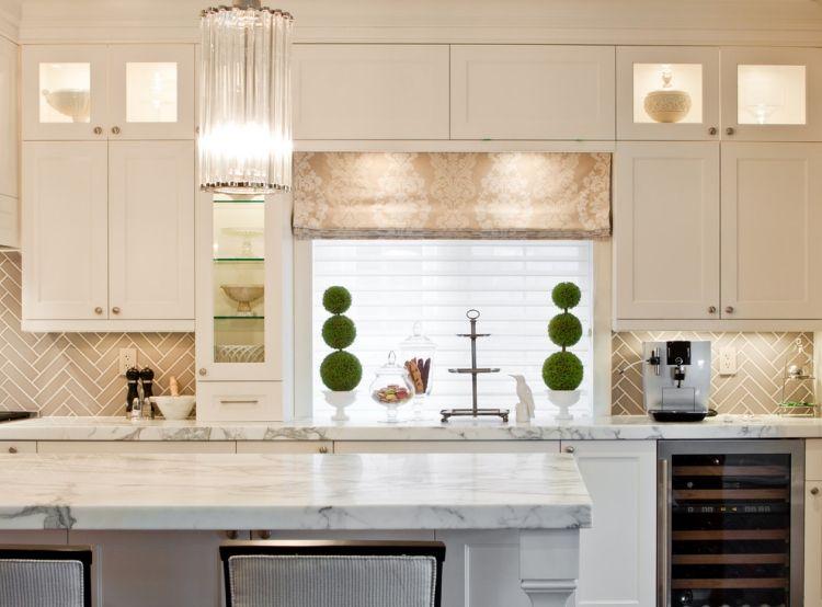 Weisse Marmor Kuchen 75 Ideen Fur Den Einsatz Von Marmor Neueste Dekoration Kitchen Backsplash Designs Contemporary Kitchen Classic Kitchens