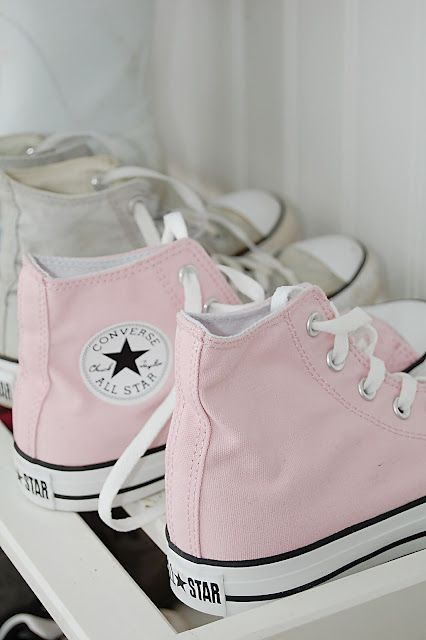 Powder pink Converse | SHOES | Shoes, Pink converse, Converse