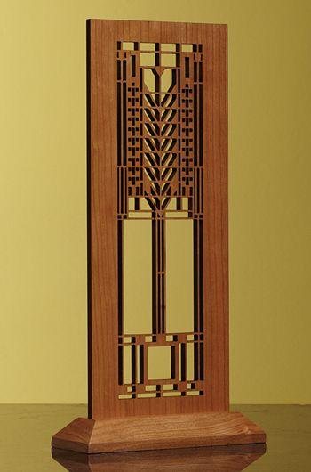 Frank Lloyd Wright (Art Deco) Tree of Life Mini Screen