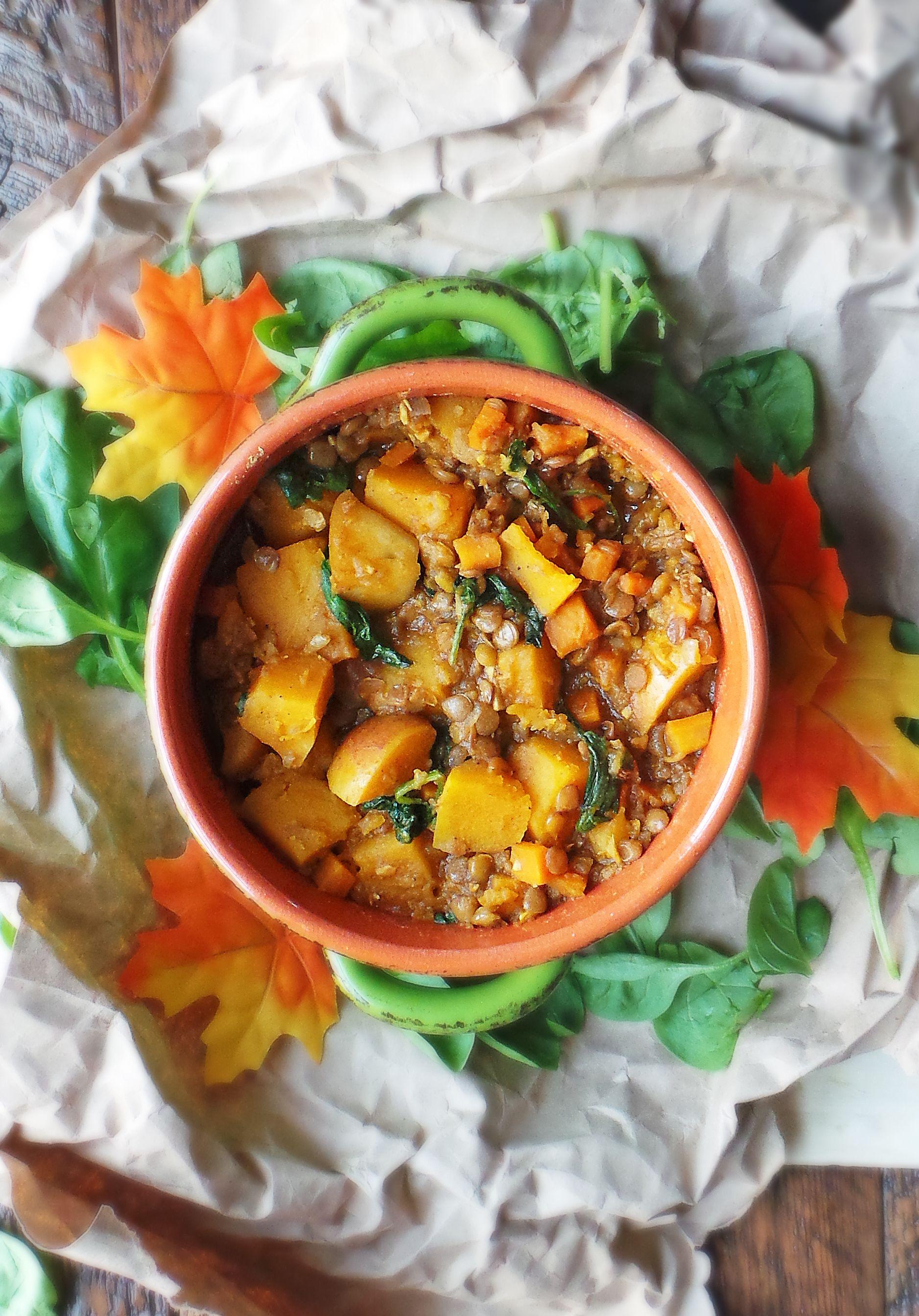 Curried Butternut Squash & Lentil Stew