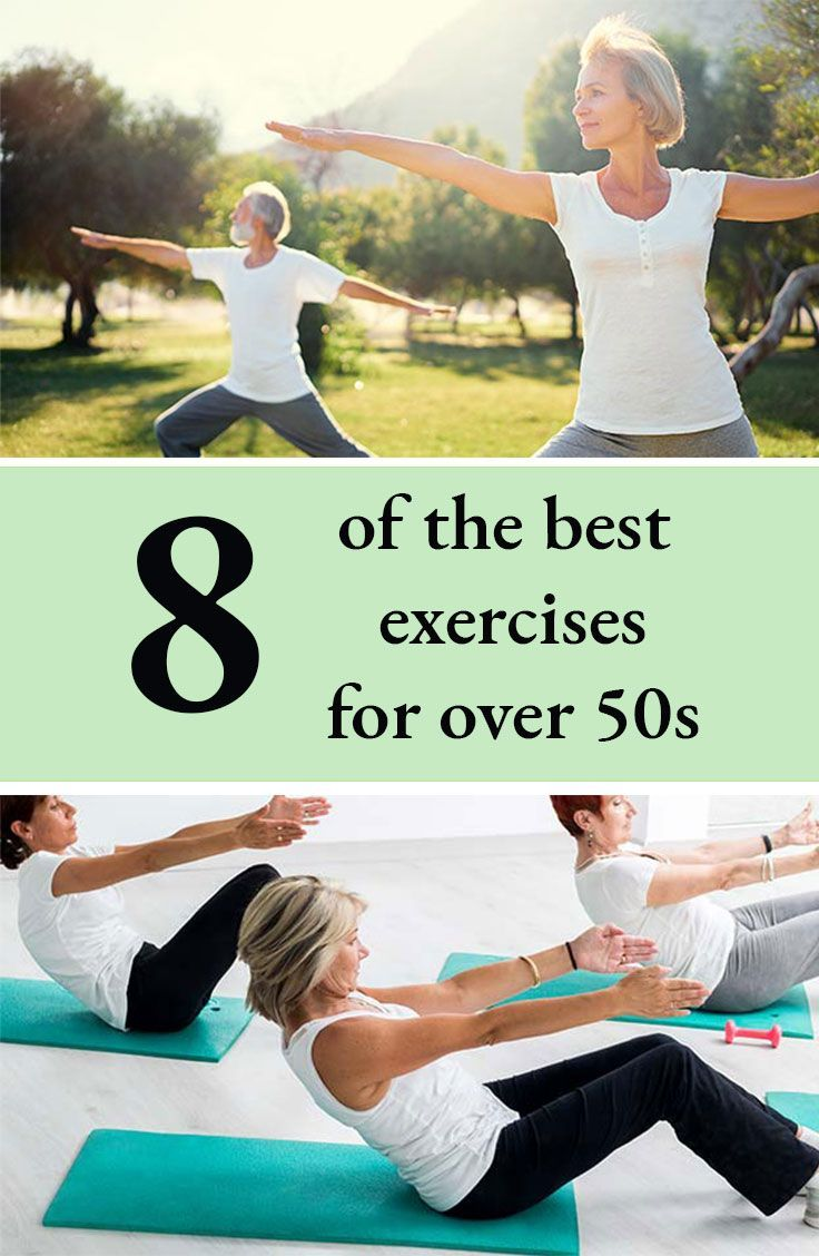 8 of the best exercises for women over 50. Older woman