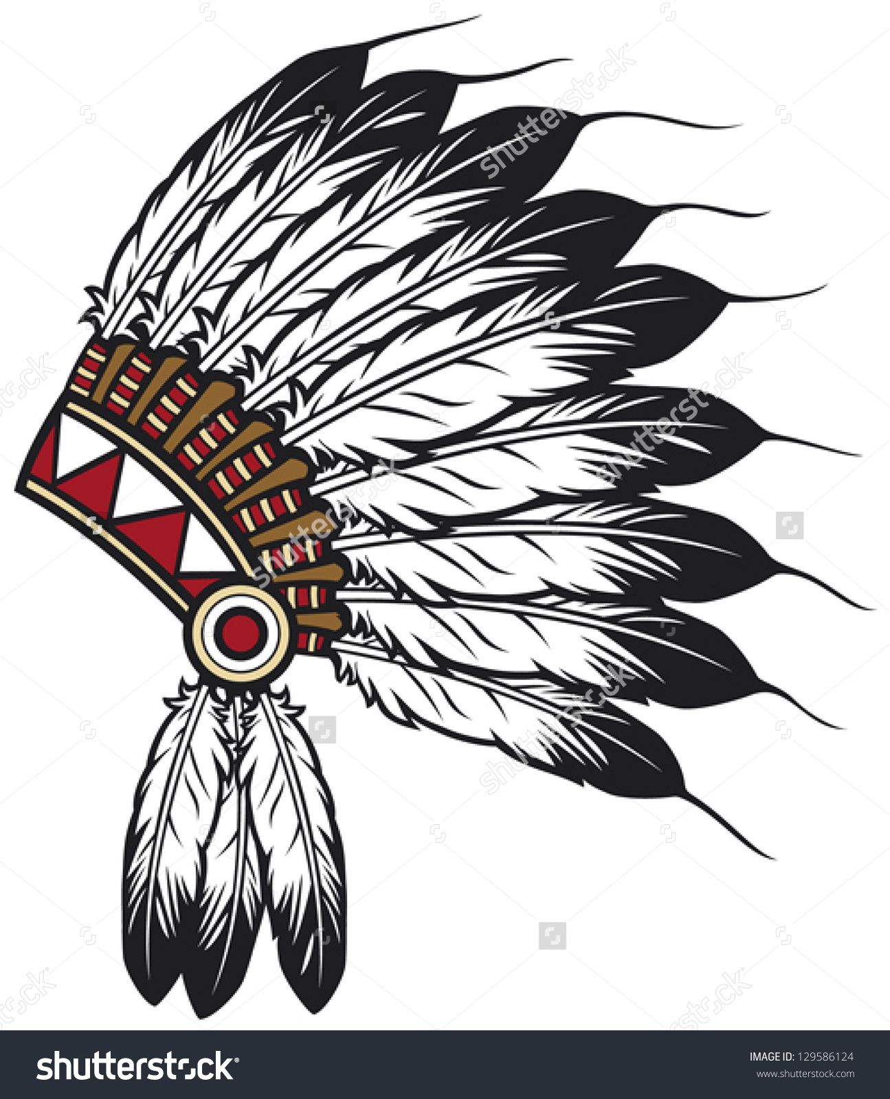 8d3ff17fa4e first nations head dress - Google Search Tattoo Indio