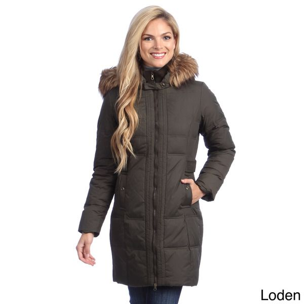 Larry Levine Women's Long Down-filled Hooded Coat | If I had money ...