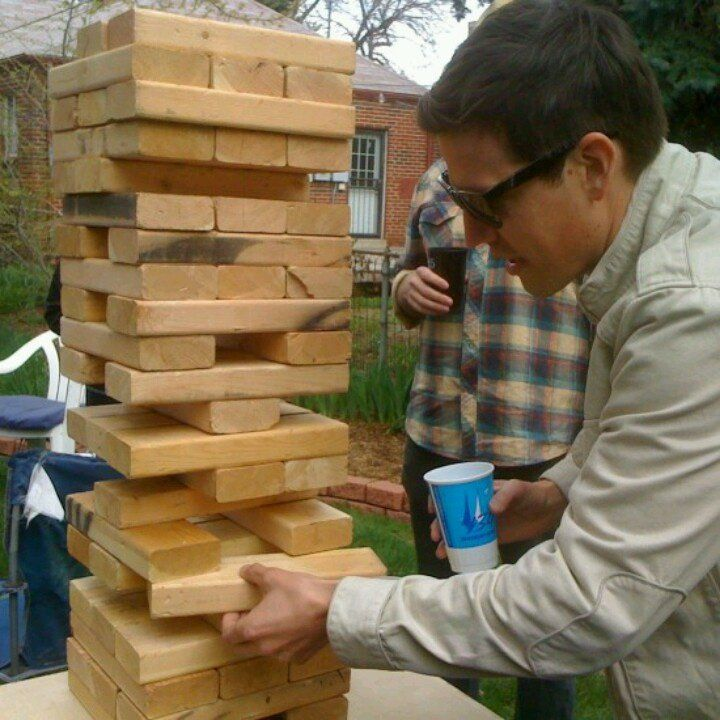GIANT jenga (With images) | Backyard games, Diy lawn, Diy ...