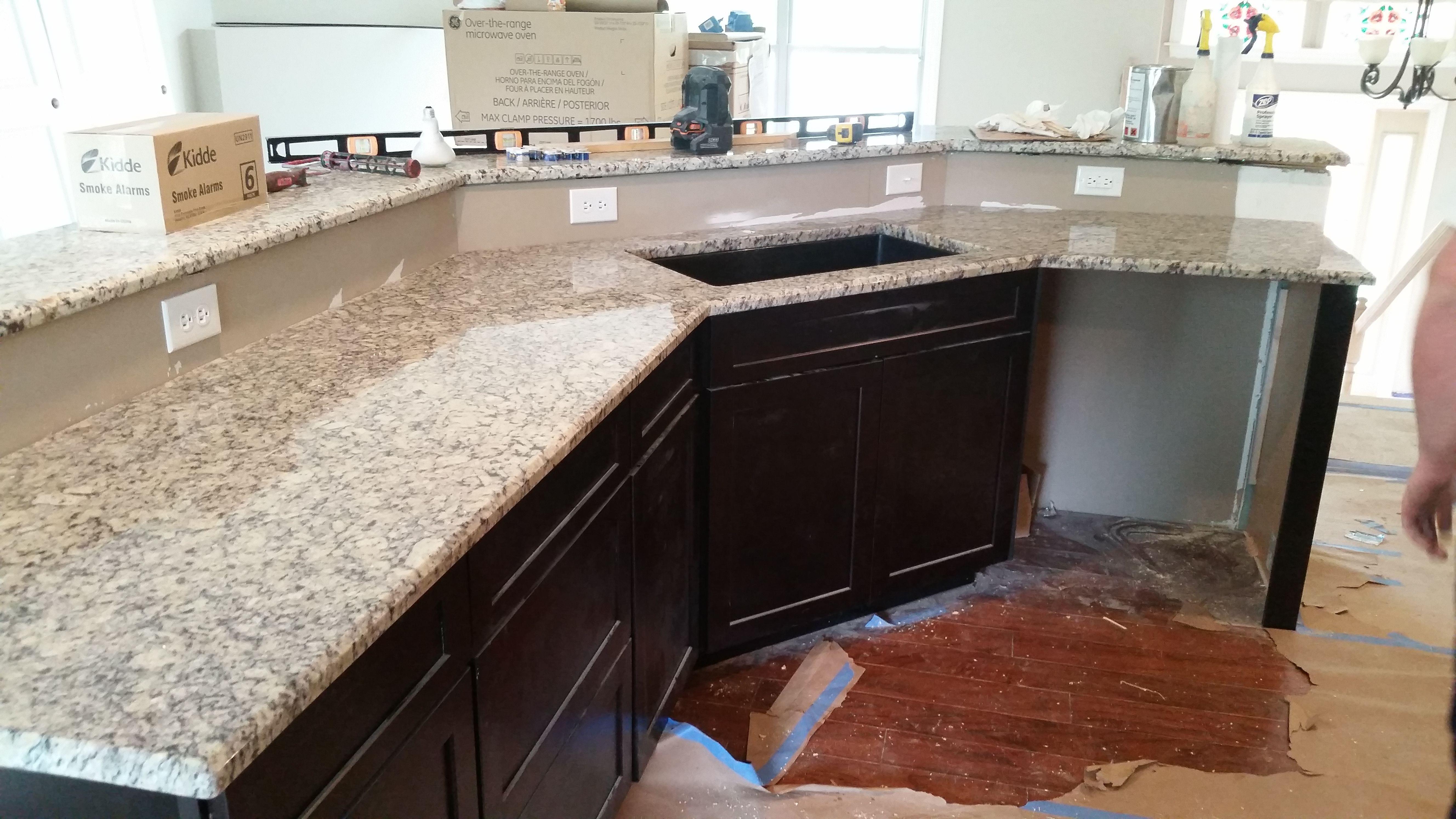 Giallo Fiesta Granite Kitchen Countertop Install For The Arellano Family.  Knoxvilleu0027s Stone Interiors. Showroom