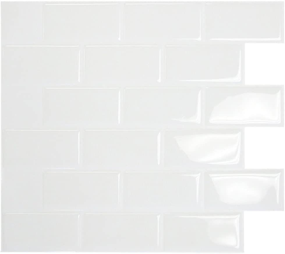 Amazon De Wandfliesen Zum Kleben U Bahn Fliesen Design Patentierte Gel O Technologie 28 X 25 Cm In 2020 Fliesenaufkleber Fliesen Design Mosaikfliesen