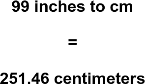 Convert 99 Inches To Centimeters