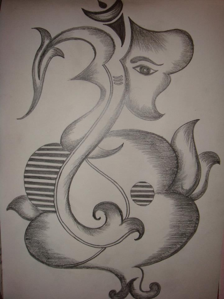 Pencil Sketch Of Ganesh