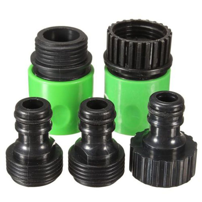 5pcs Quick Connect Tap Adapter Connector Fits 3 4 Inch Hoses Garden Hoses Taps Quick Garden Hose Connector Faucet