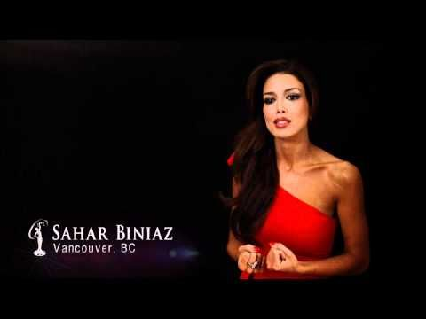 Sahar Biniaz, of Vancouver, has been crowned Miss Universe Canada.
