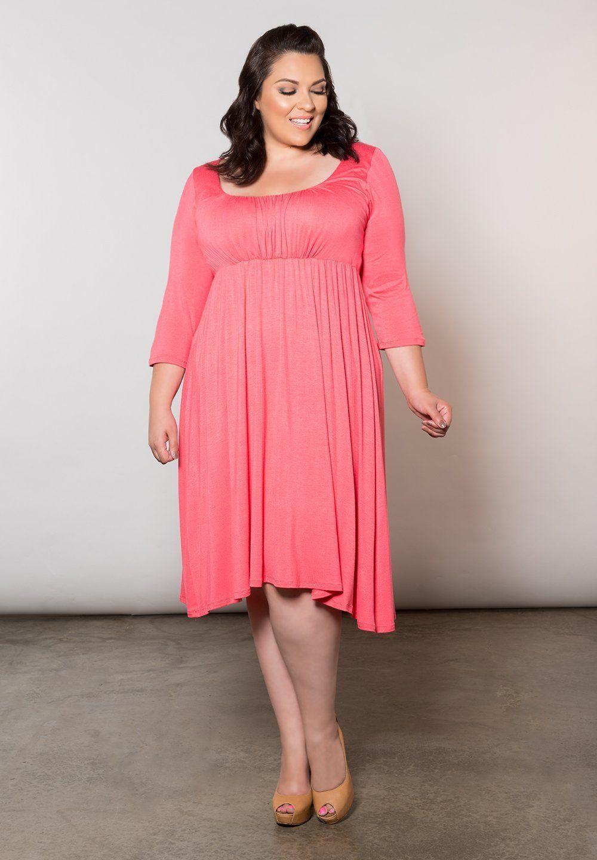 Women\'s Plus Size Dress | Juliet Dress in Coral Pink | SWAK Designs ...