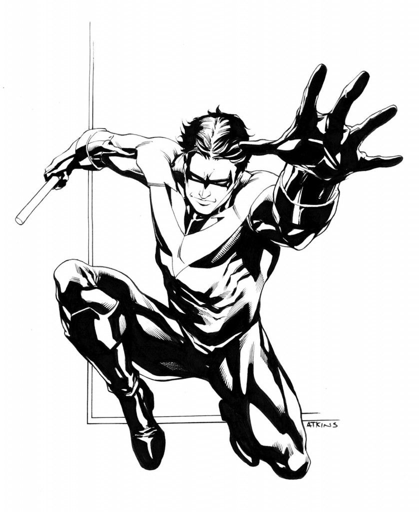 Free Printable Nightwing Coloring Pages For Kids | Comic Book ...