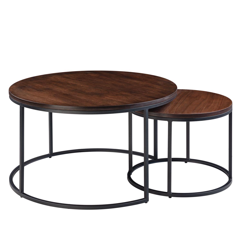 Tables Basses Marias Lot De 2 In 2020 Couchtisch Rund Holz Beistelltische Und Beistelltische Wohnzimmer