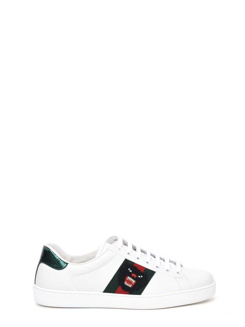 gucci black panther shoes - 65% OFF