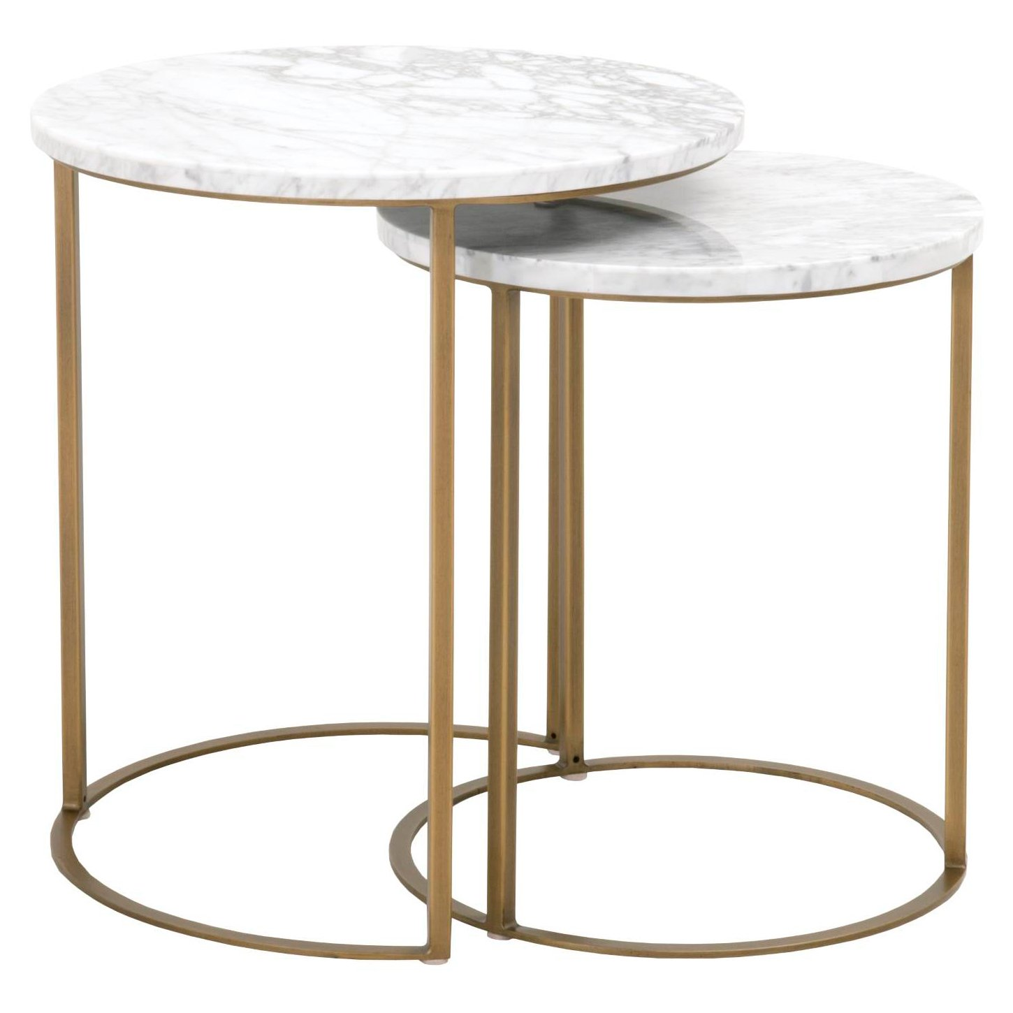 Carrera Round Nesting Accent Table Set Of 2 Nesting Accent Tables Round Nesting Coffee Tables Nesting Coffee Tables [ 1450 x 1450 Pixel ]
