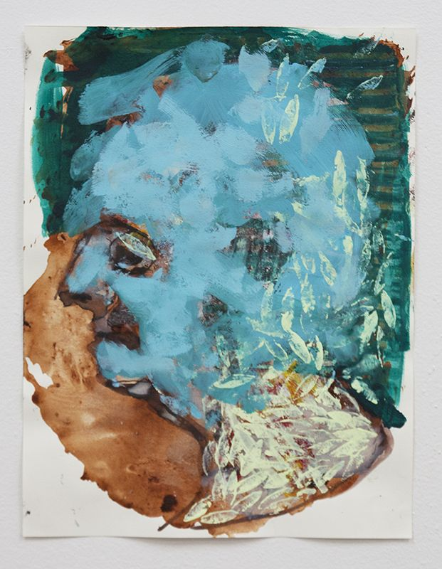 Mess, acrylic on paper, 30x23cm, 2014 by Bartosz Beda