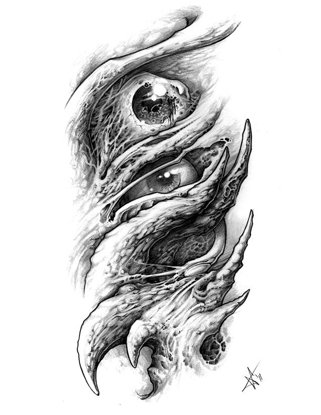 Tower Of Organic Eyes Sketches By Frankenshultz Bio Organic Tattoo Organic Tattoo Biomechanical Tattoo