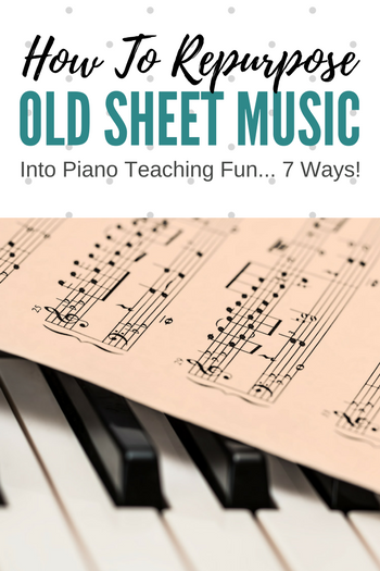 Stacks of old sheet music in your studio? It can be used