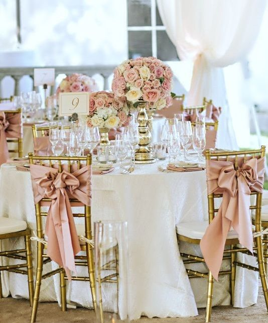 Dusty Rose Wedding Decor