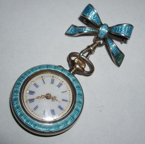e4279af20 unique ladies pocket watches antique | Gold Bow Brooch Ladies Pocket Watch