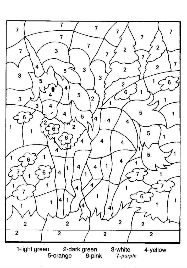 Free Printable Color By Number Coloring Pages Unicorn Coloring Pages Horse Coloring Pages Free Coloring Pages