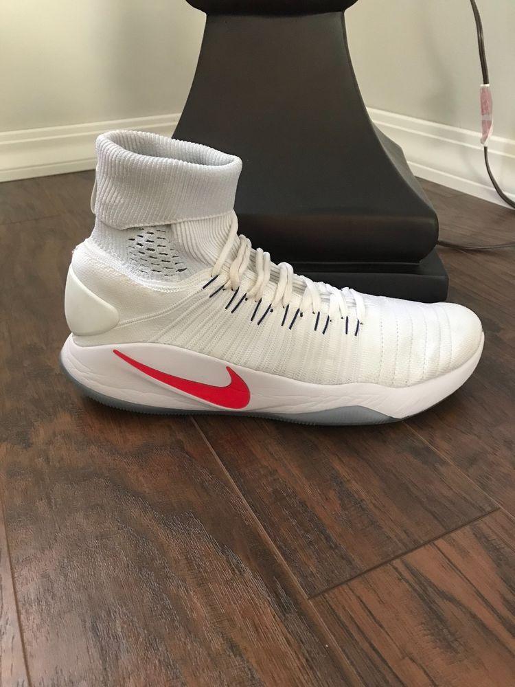 ab59c16142ad Men s Nike Hyperdunk 2016 Flyknit Size-12 White USA  fashion  clothing   shoes